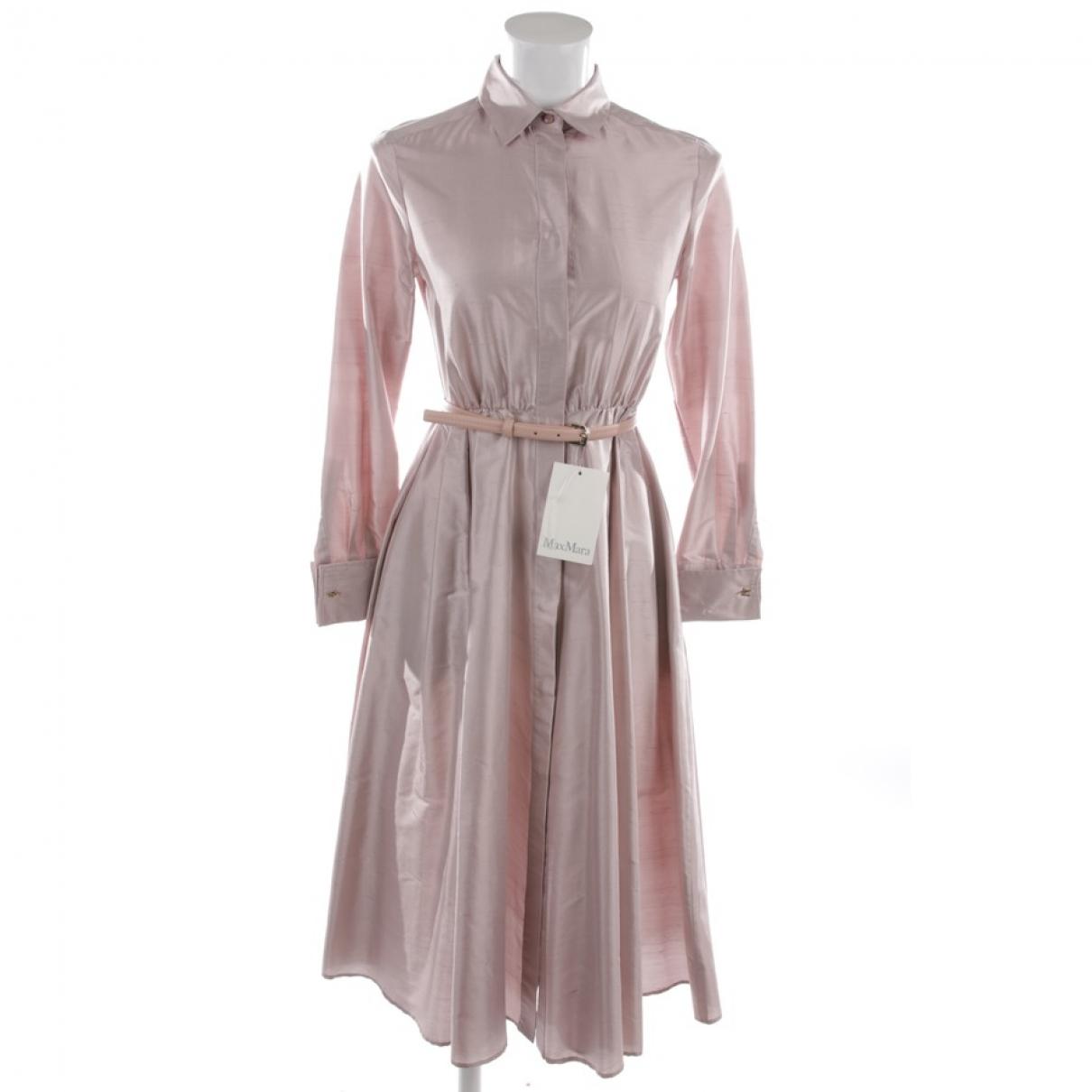 Max Mara \N Kleid in  Rosa Seide
