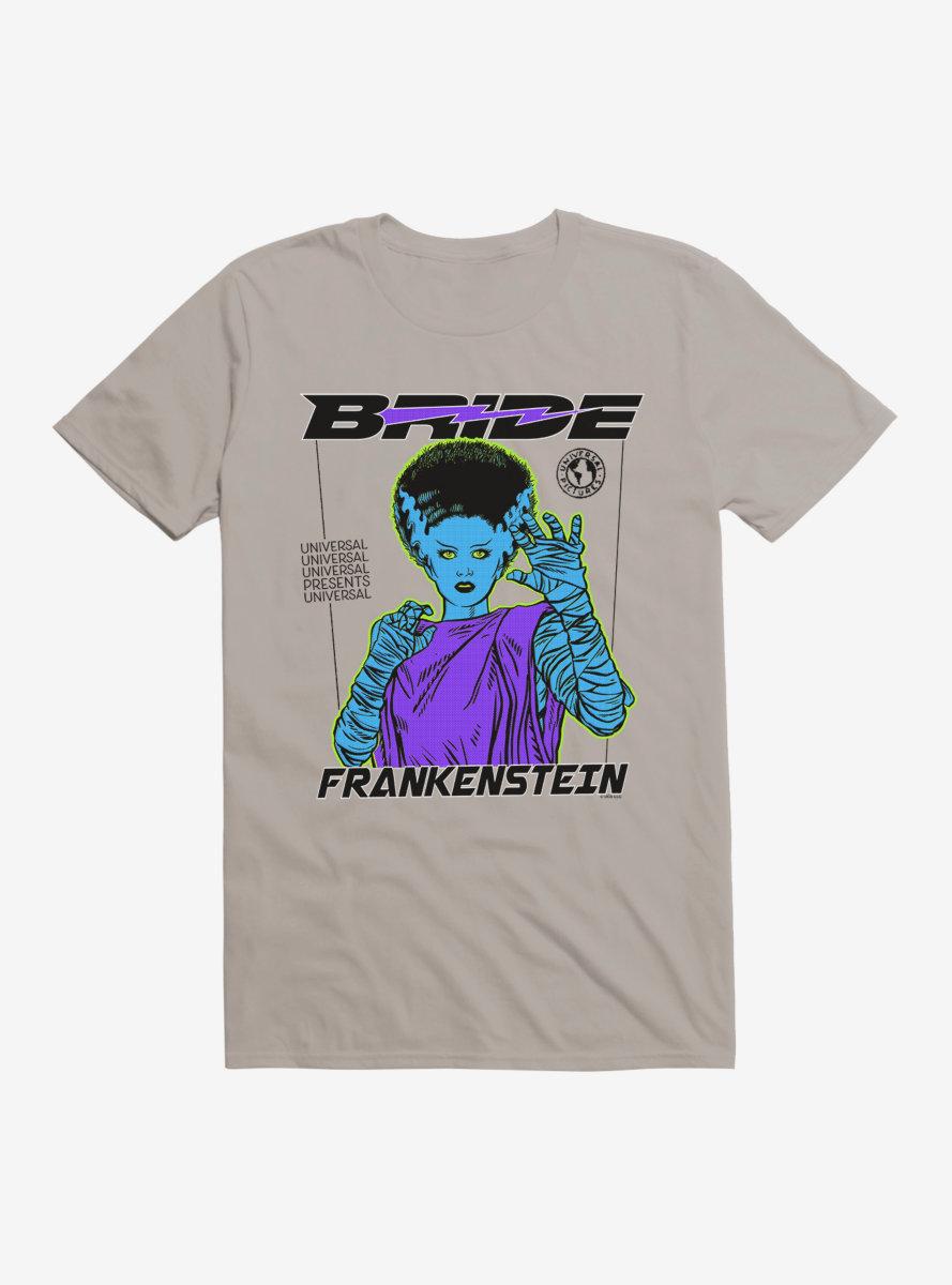 Universal Monsters Bride Of Frankenstein Scared T-Shirt