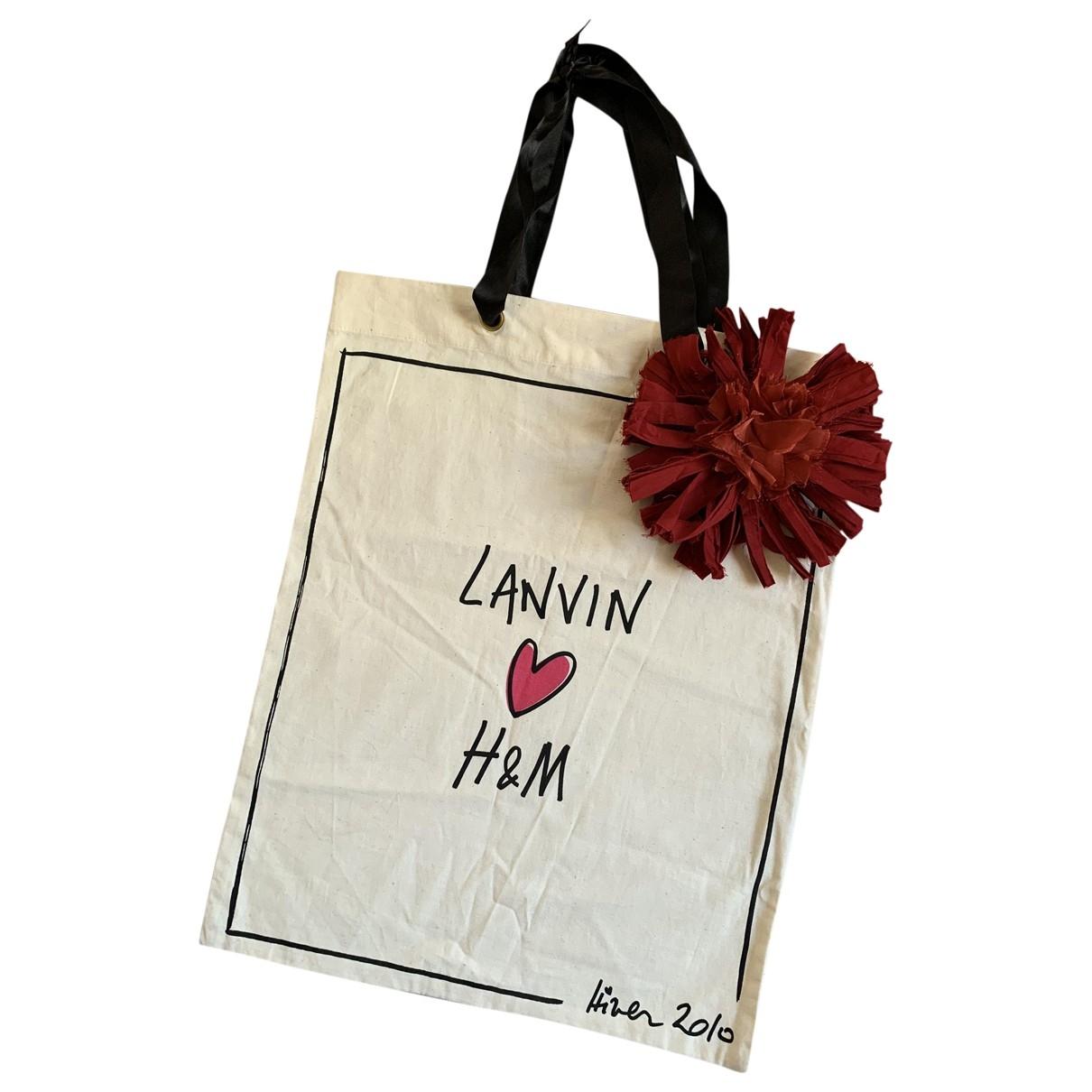 Lanvin For H&m - Sac a main   pour femme en coton - beige