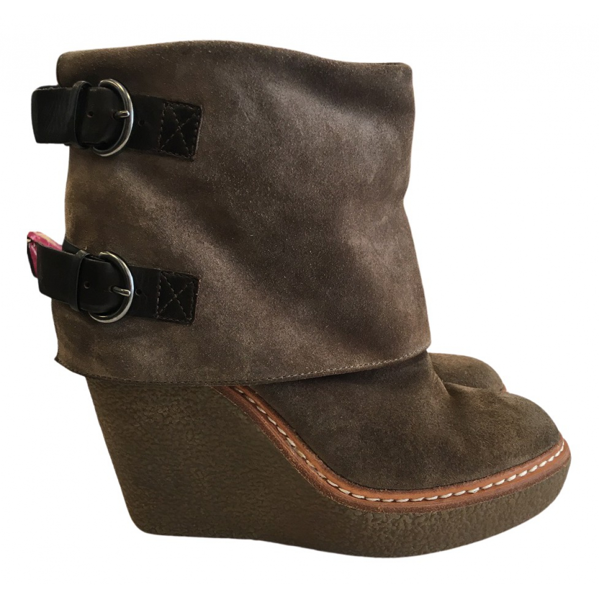 Ash N Brown Suede Ankle boots for Women 37 EU