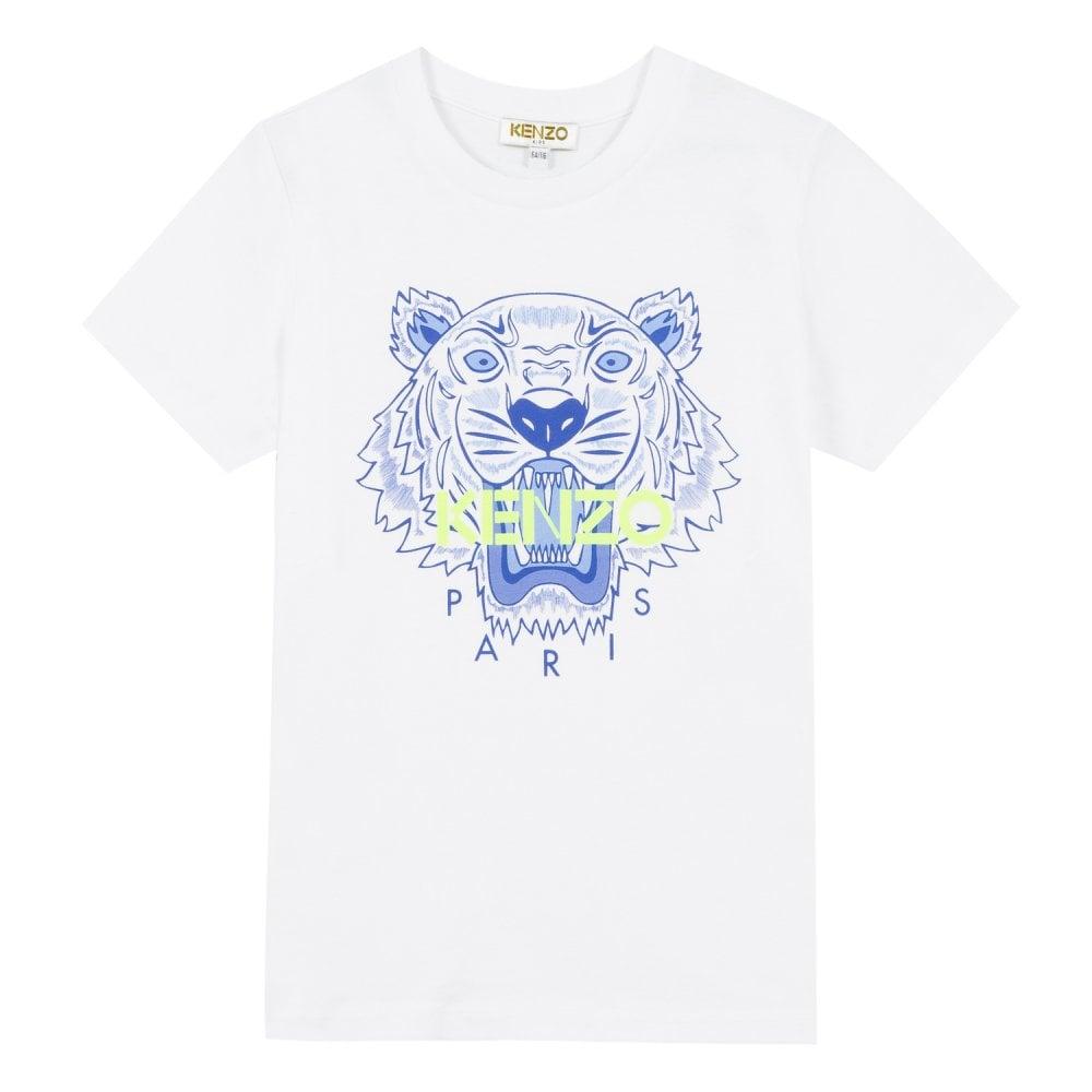 Kenzo Kids Tiger Logo T-Shirt White Colour: WHITE, Size: 2 YEARS