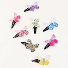 8pcs Butterfly Decor Hair Clip