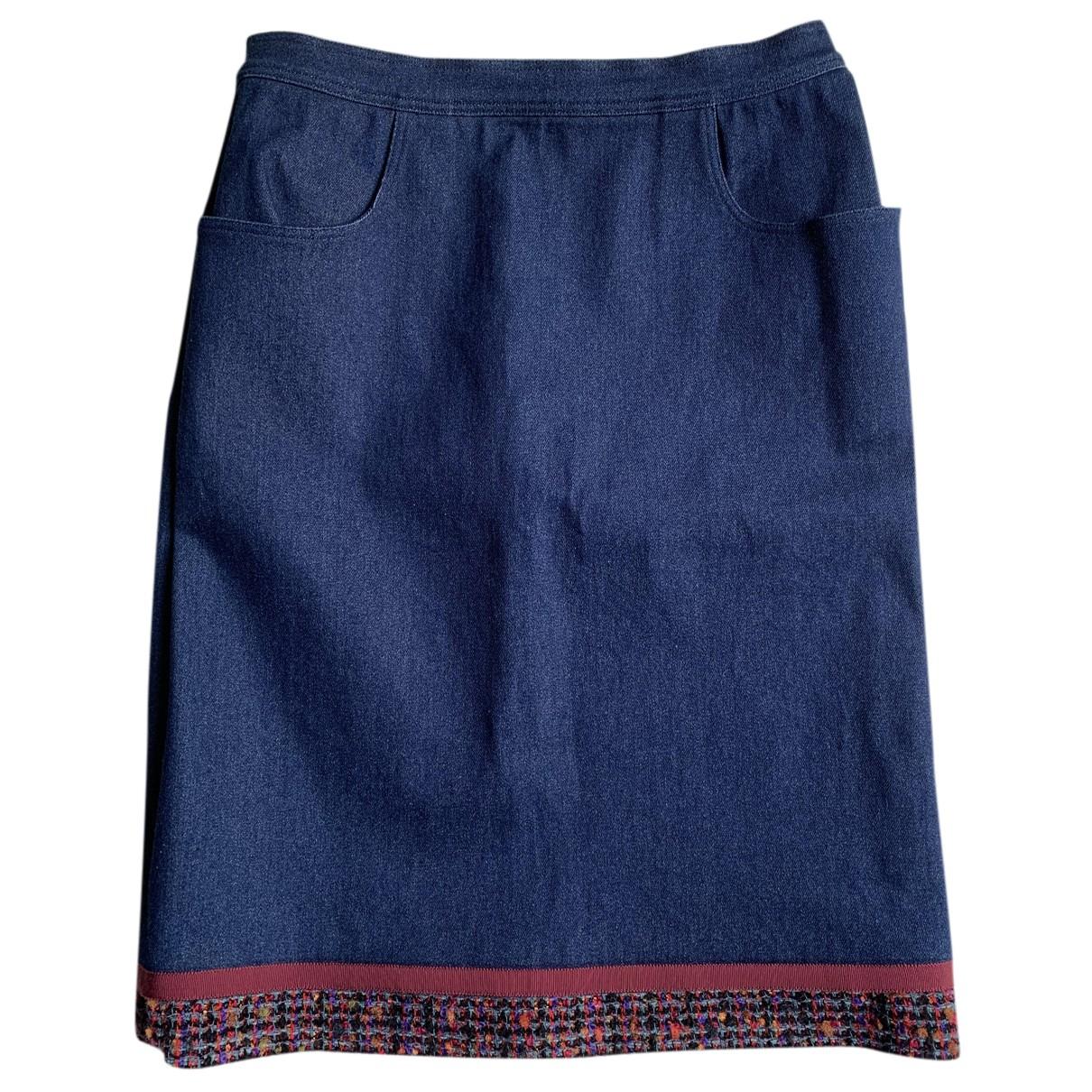 Chanel \N Rocke in  Blau Denim - Jeans