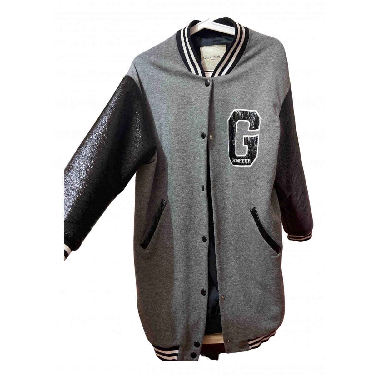Gaelle Bonheur - Manteau   pour femme en coton - gris