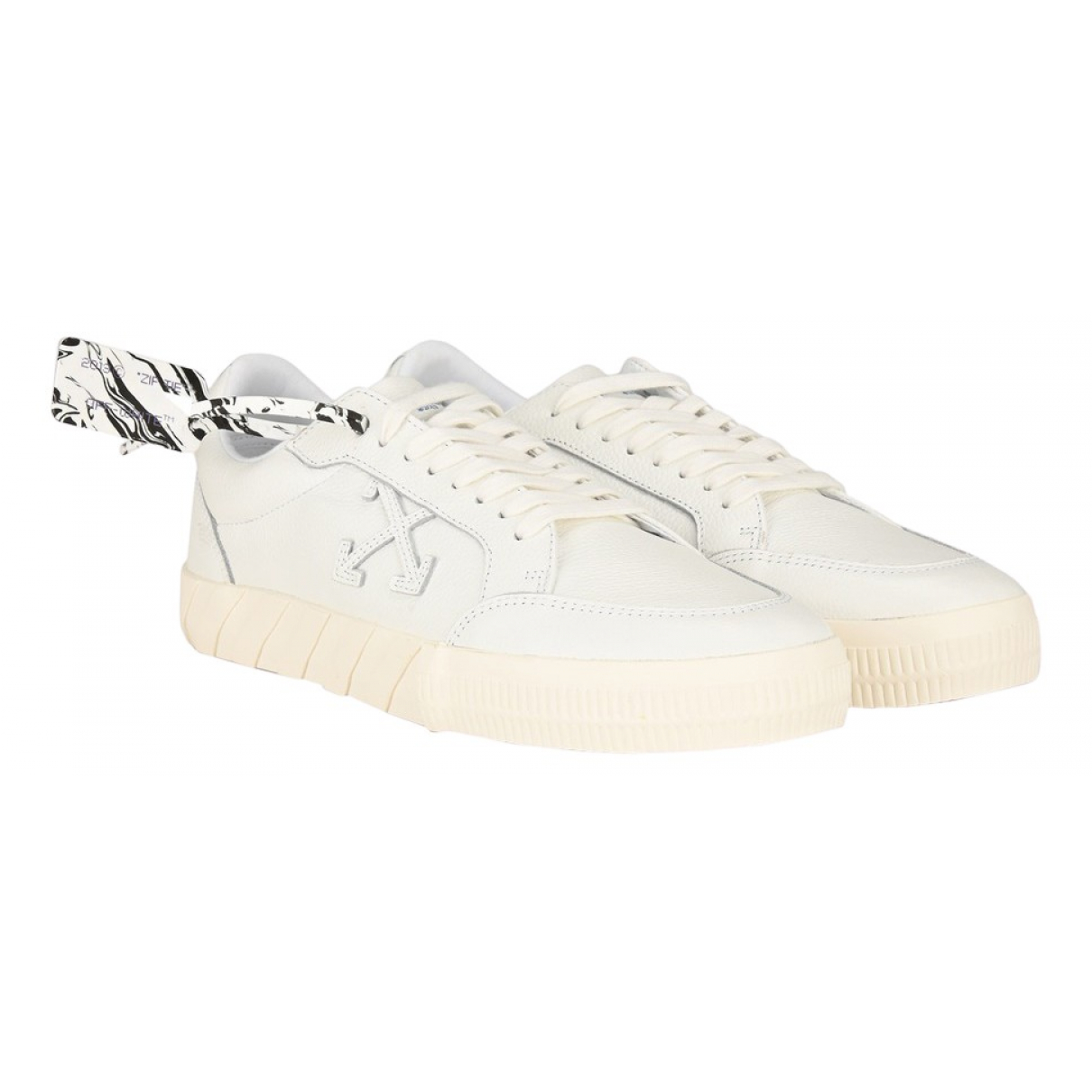 Off-white Vulcalized White Leather Trainers for Men 40 EU