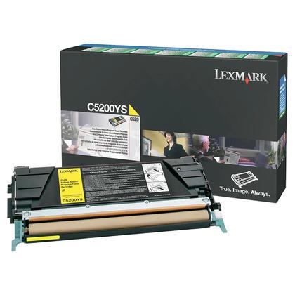 Lexmark C5200YS cartouche de toner du programme retour originale jaune