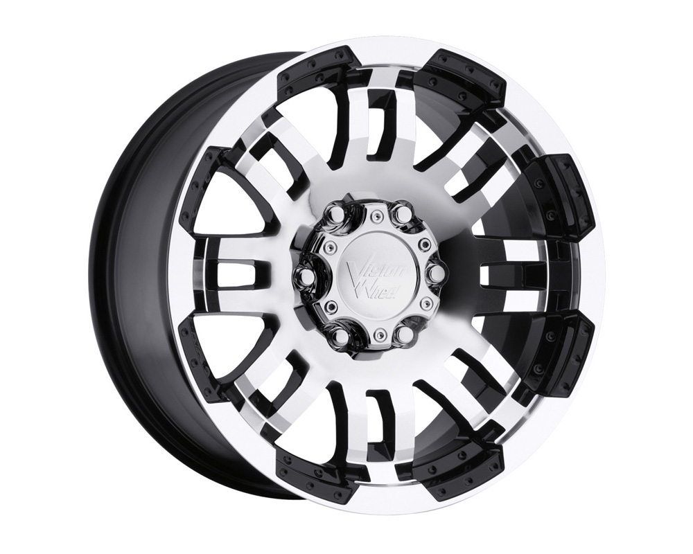 Vision Warrior Gloss Black Machined Face Wheel 17x8.5 5x139.7 18mm
