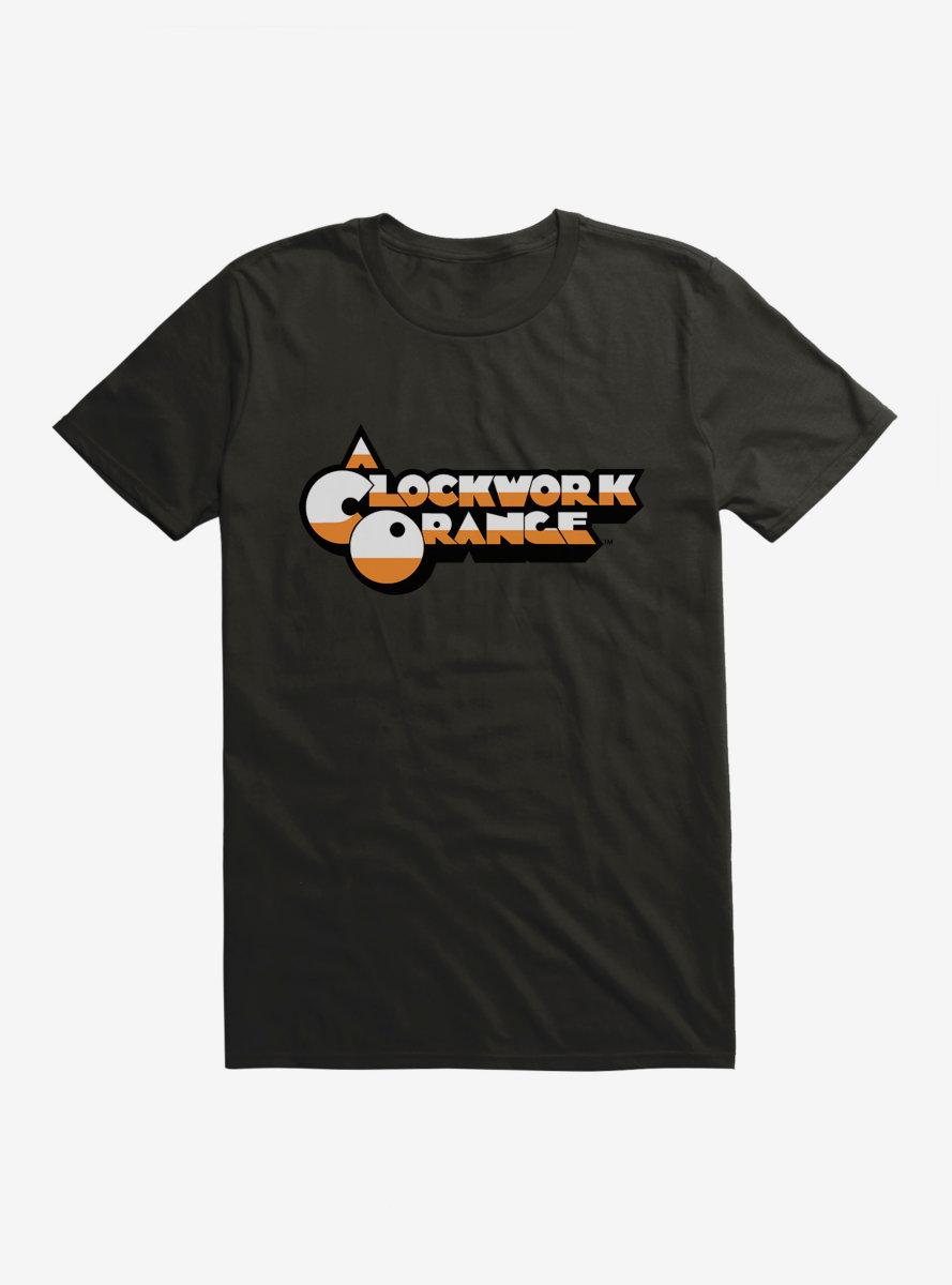 A Clockwork Orange Two Color Font Logo T-Shirt