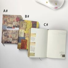 1pack Vintage Pattern Cover Notebook