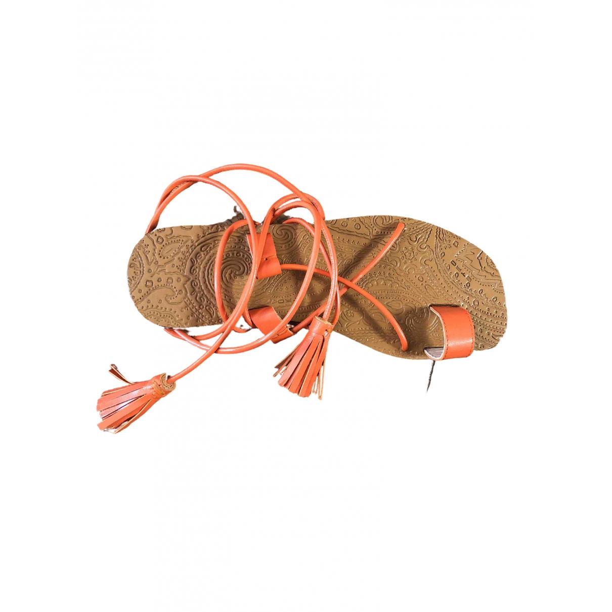 Etro \N Sandalen in  Orange Leder