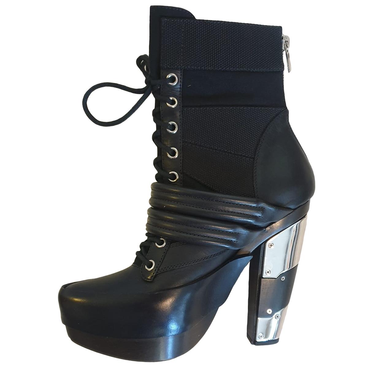 Rodarte - Boots   pour femme en cuir - noir
