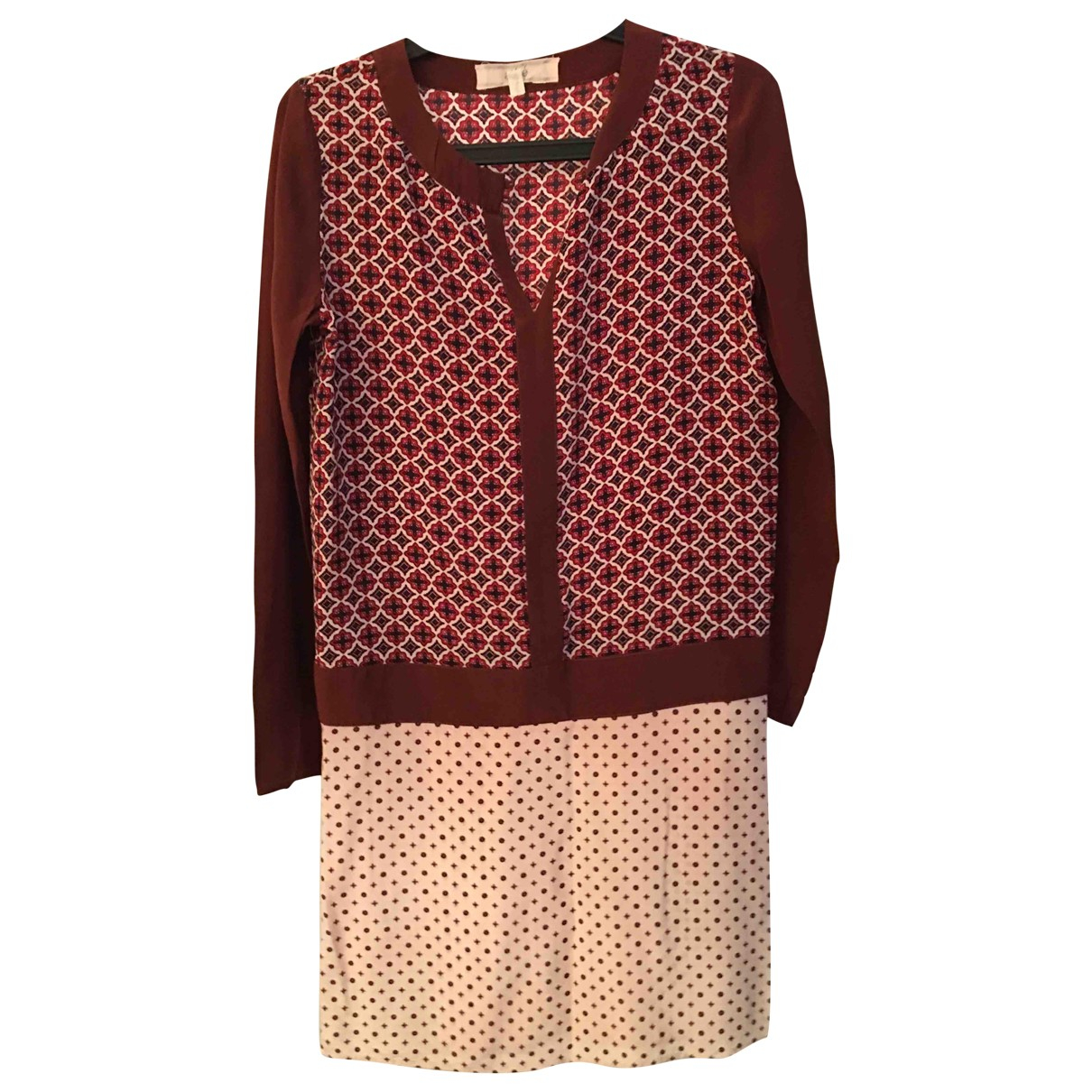 Vanessa Bruno Athe \N Kleid in  Bordeauxrot Seide