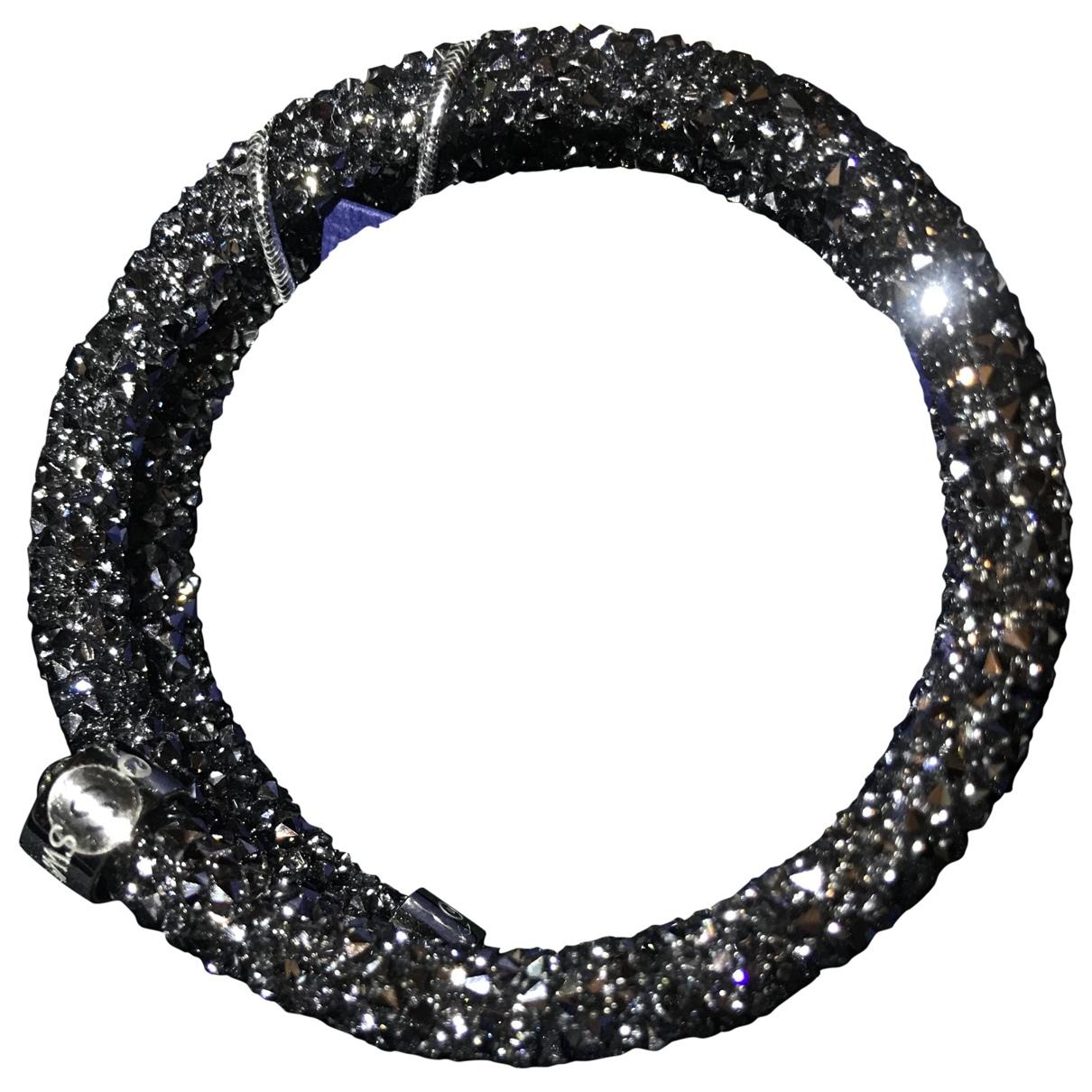 Swarovski - Bracelet   pour femme en metal - anthracite