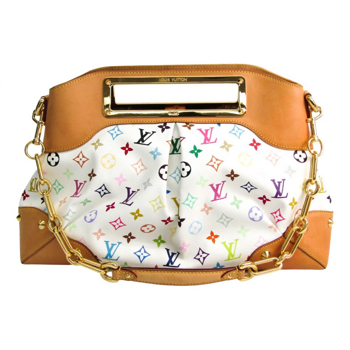 Louis Vuitton Judy White Cloth handbag for Women N