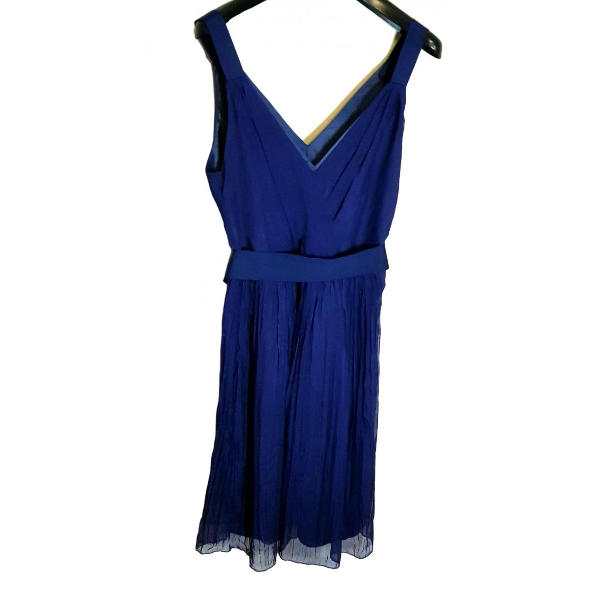 Philosophy Di Alberta Ferretti - Robe   pour femme en soie - bleu