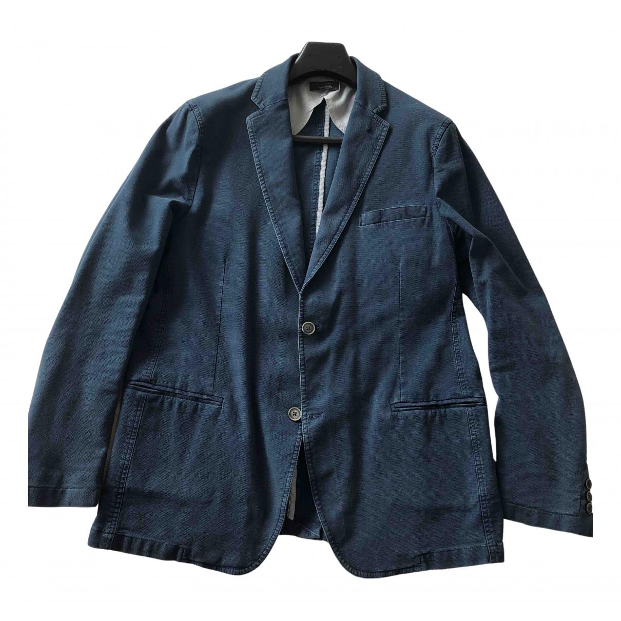Falconeri N Blue Cotton jacket  for Men 54 IT