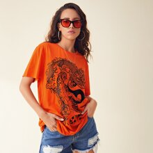 Chinese Dragon & Tiger Graphic Tee