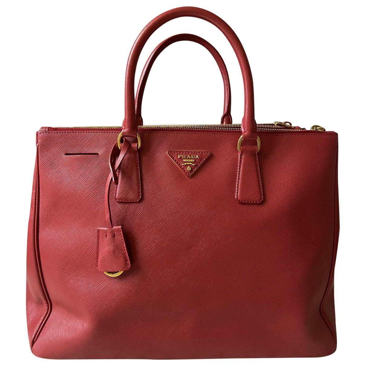Prada - Sac a main Galleria pour femme en cuir - rouge