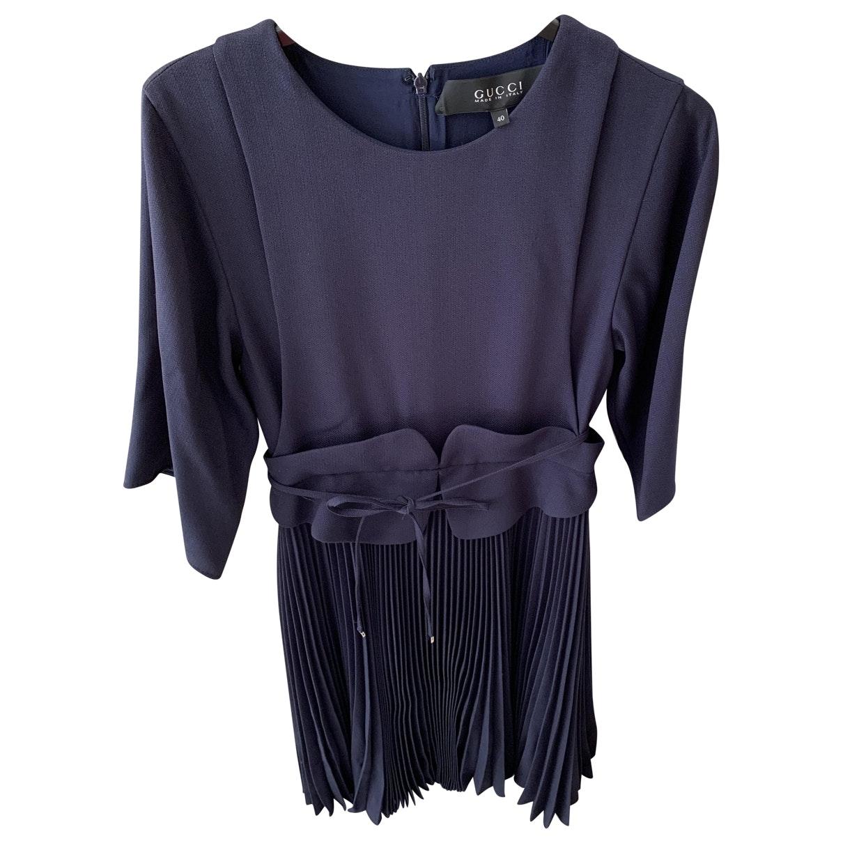 Gucci \N Blue Silk dress for Women 40 IT