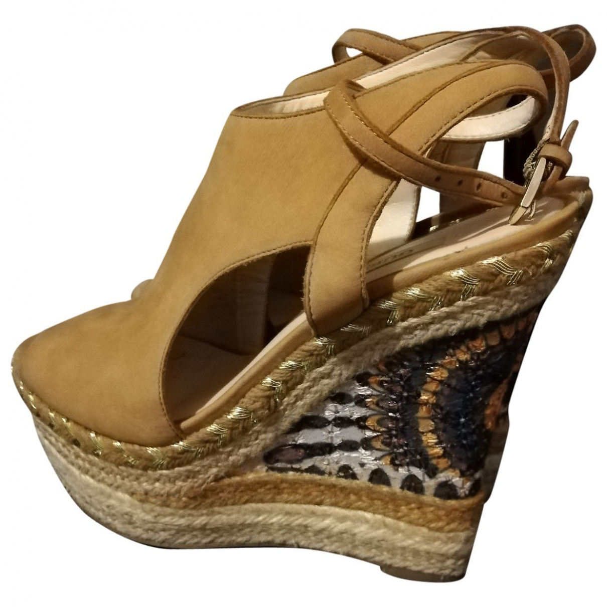 Guess \N Camel Suede Sandals for Women 36 EU