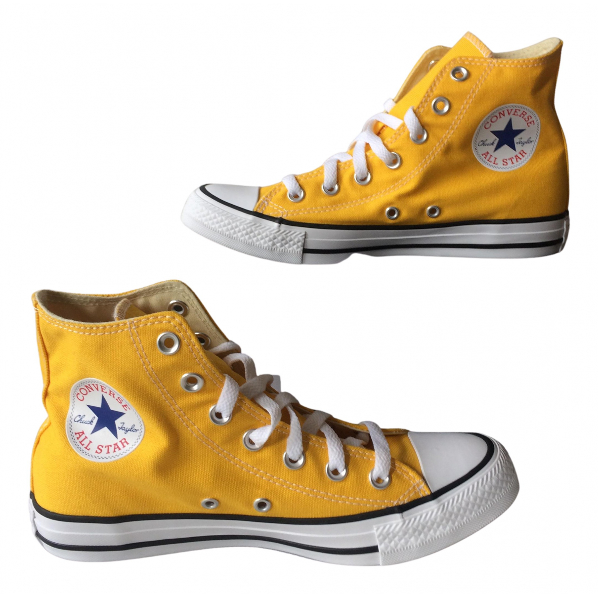 Converse N Yellow Cloth Trainers for Women 7.5 US