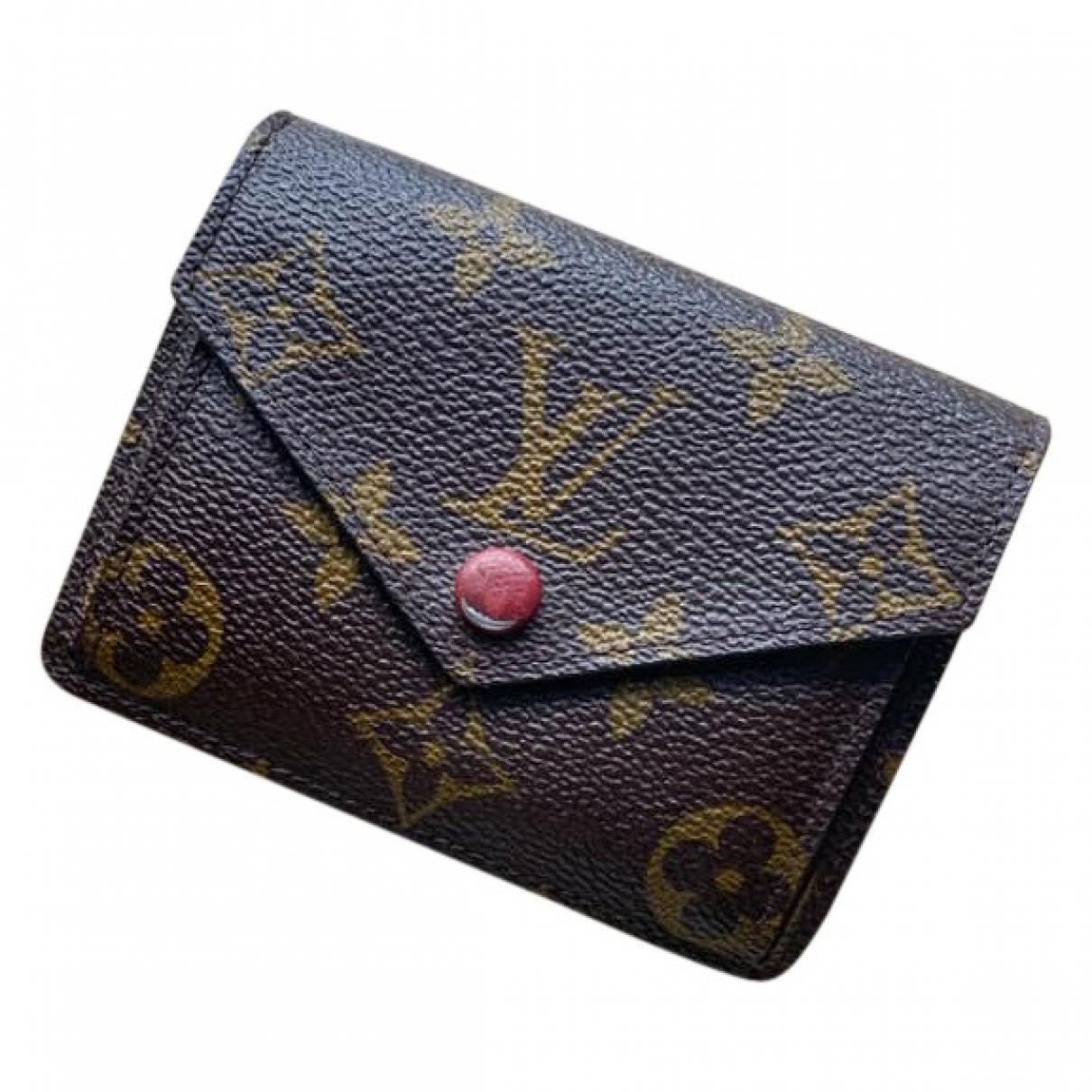 Louis Vuitton - Portefeuille Marie pour femme en toile - marron
