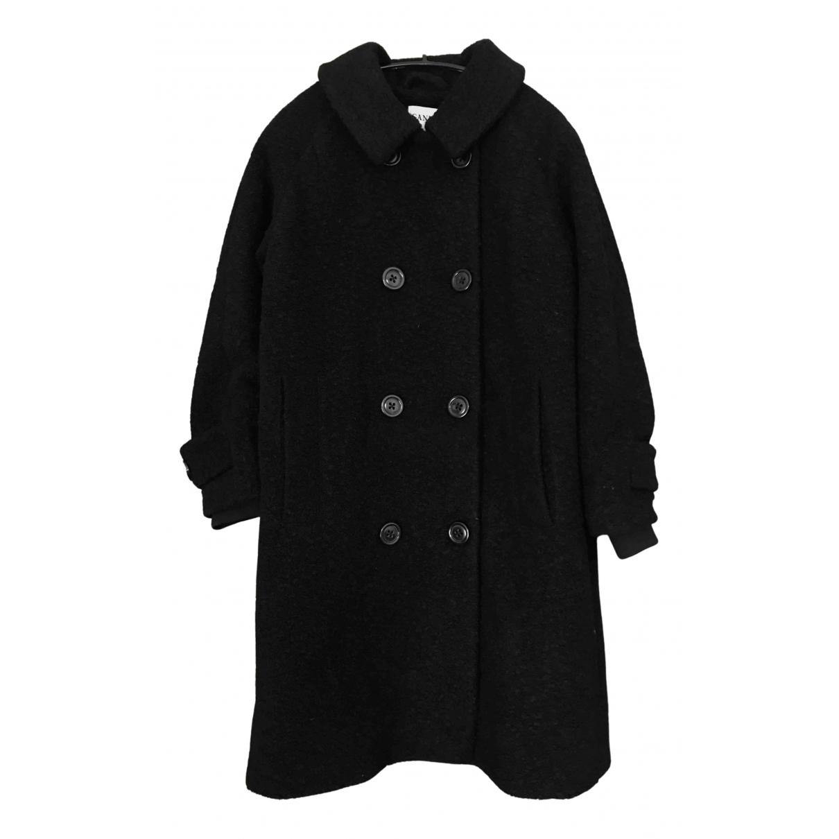 Ganni - Manteau   pour femme en laine - noir