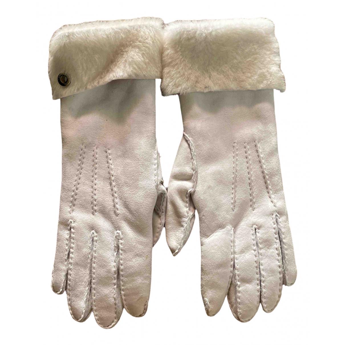Loro Piana \N Handschuhe in  Weiss Veloursleder