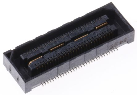 Samtec , QSH 0.5mm Pitch 60 Way 2 Row Straight PCB Socket, Surface Mount, Solder Termination