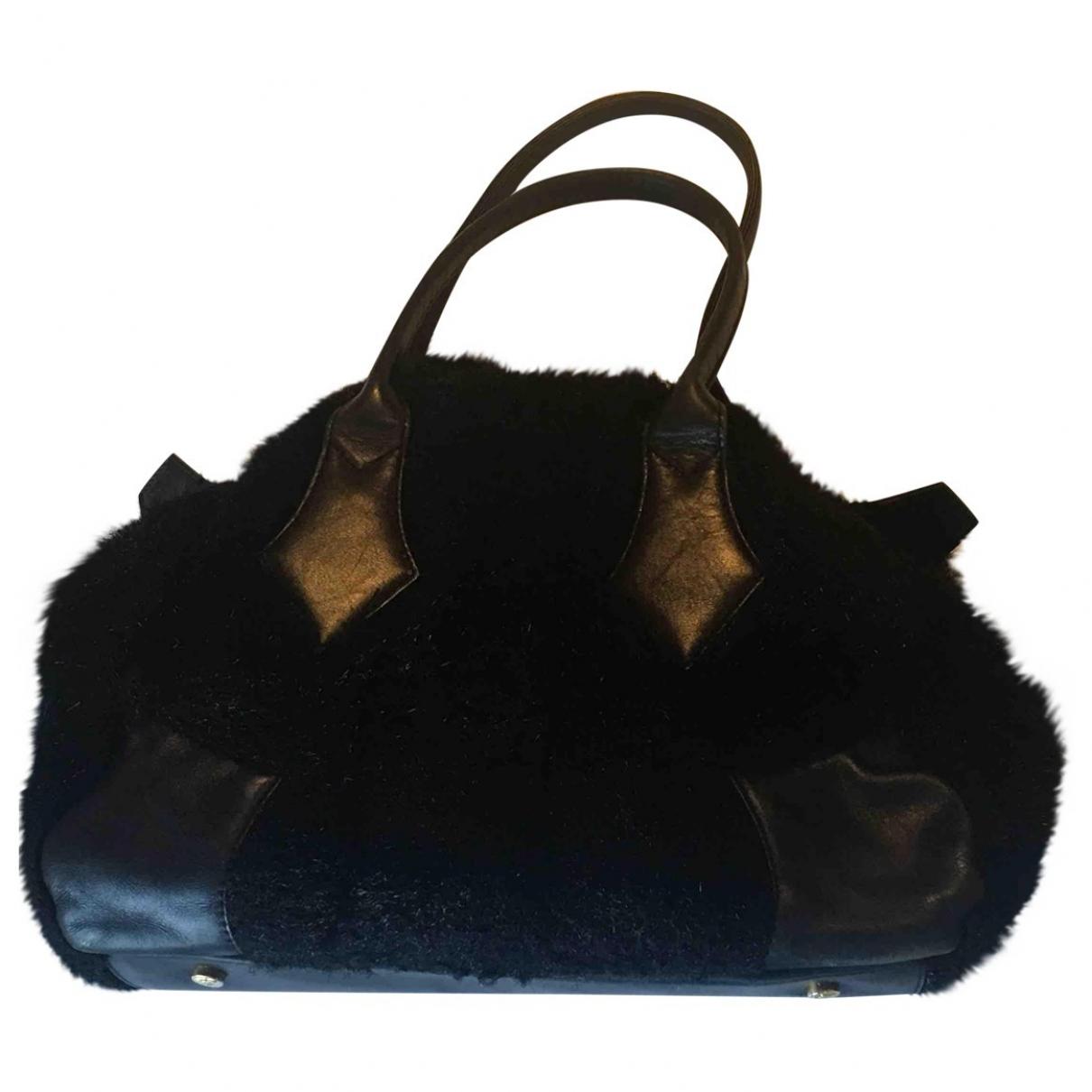 Vivienne Westwood \N Handtasche in  Schwarz Synthetikpelz