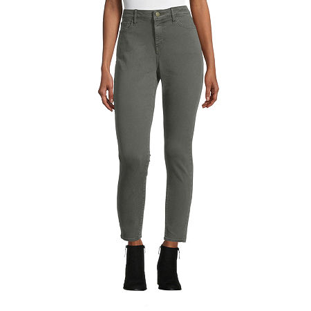 a.n.a Womens Mid Rise Skinny Jeggings, 2 , Green