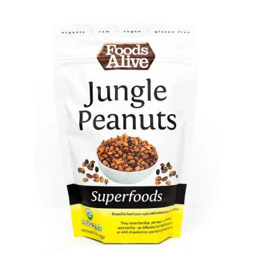 Organic Wild Jungle Peanuts 8 Oz by Foods Alive