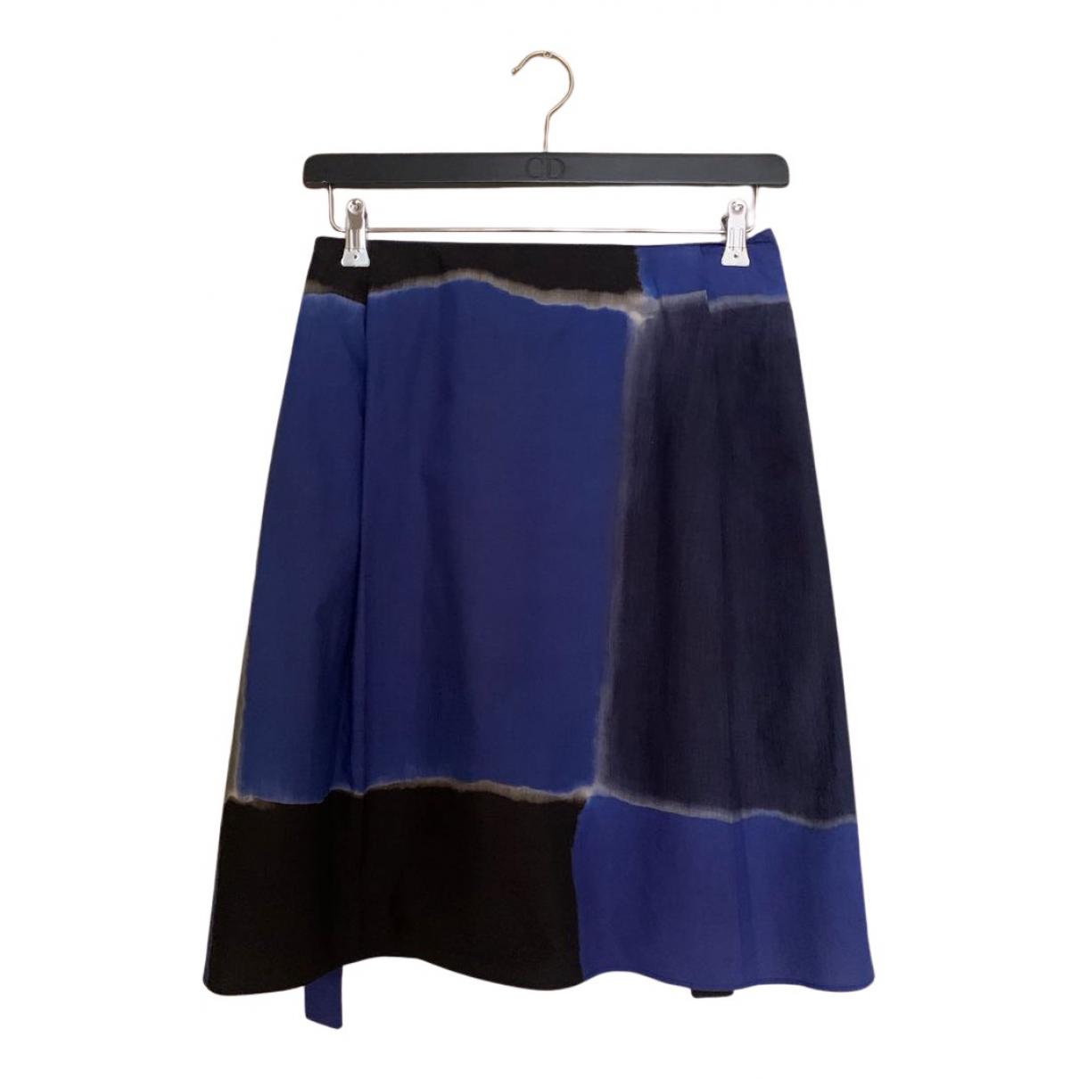 Ter Et Bantine - Jupe   pour femme en soie - bleu