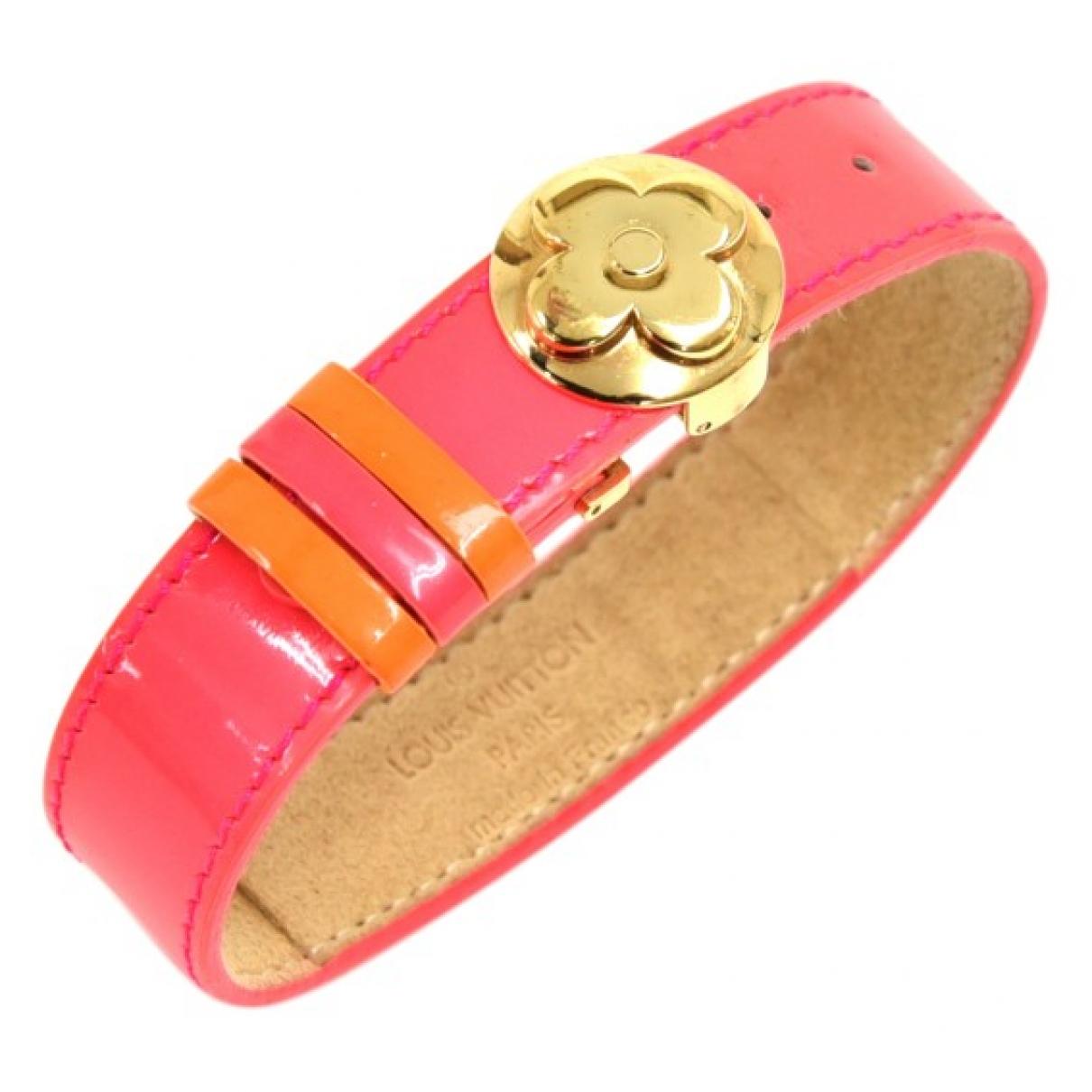 Louis Vuitton - Bracelet   pour femme en cuir verni - rose