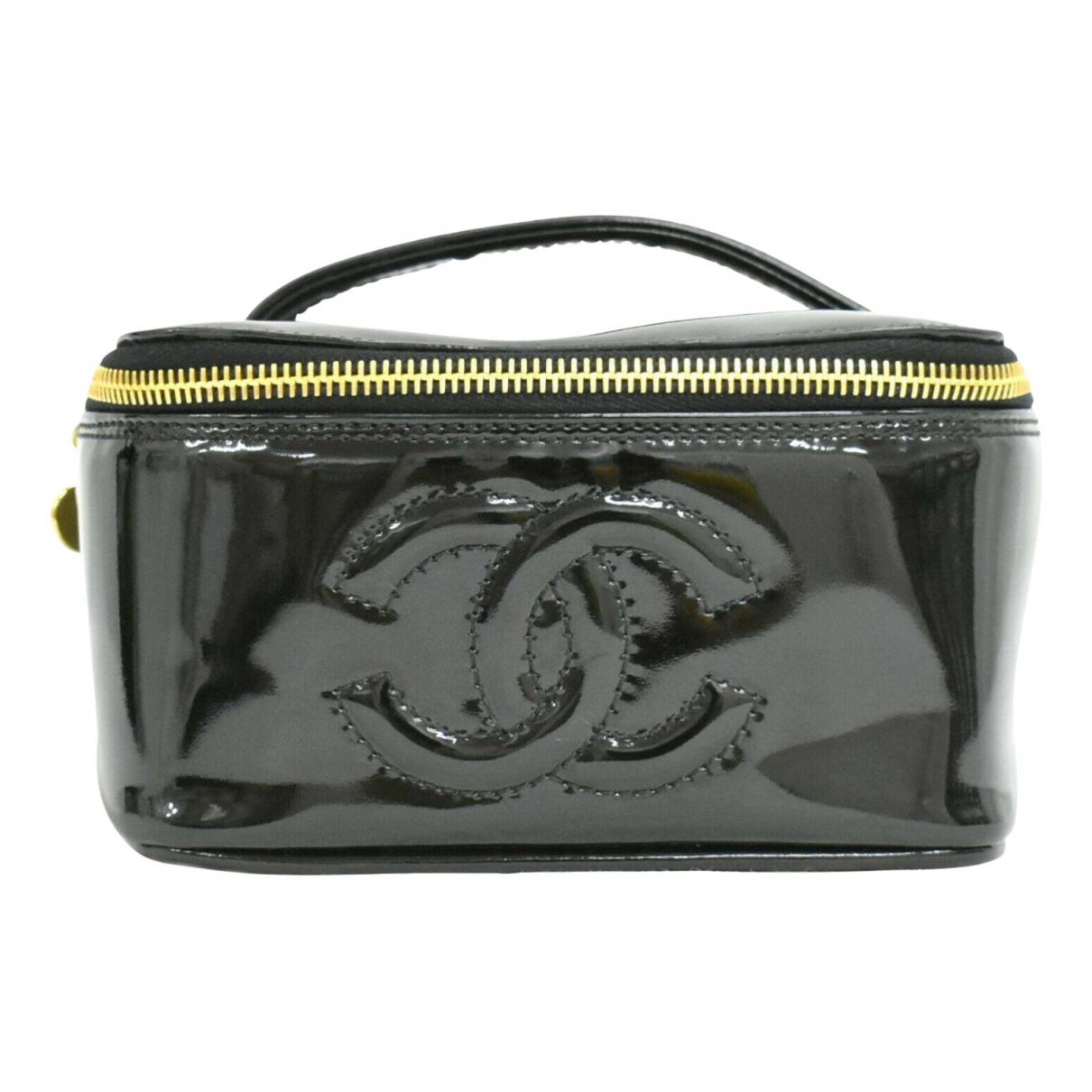 Chanel - Sac a main Vanity pour femme en cuir verni - noir