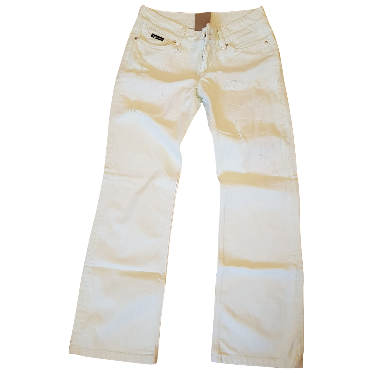 D&g \N Green Cotton Trousers for Women One Size International