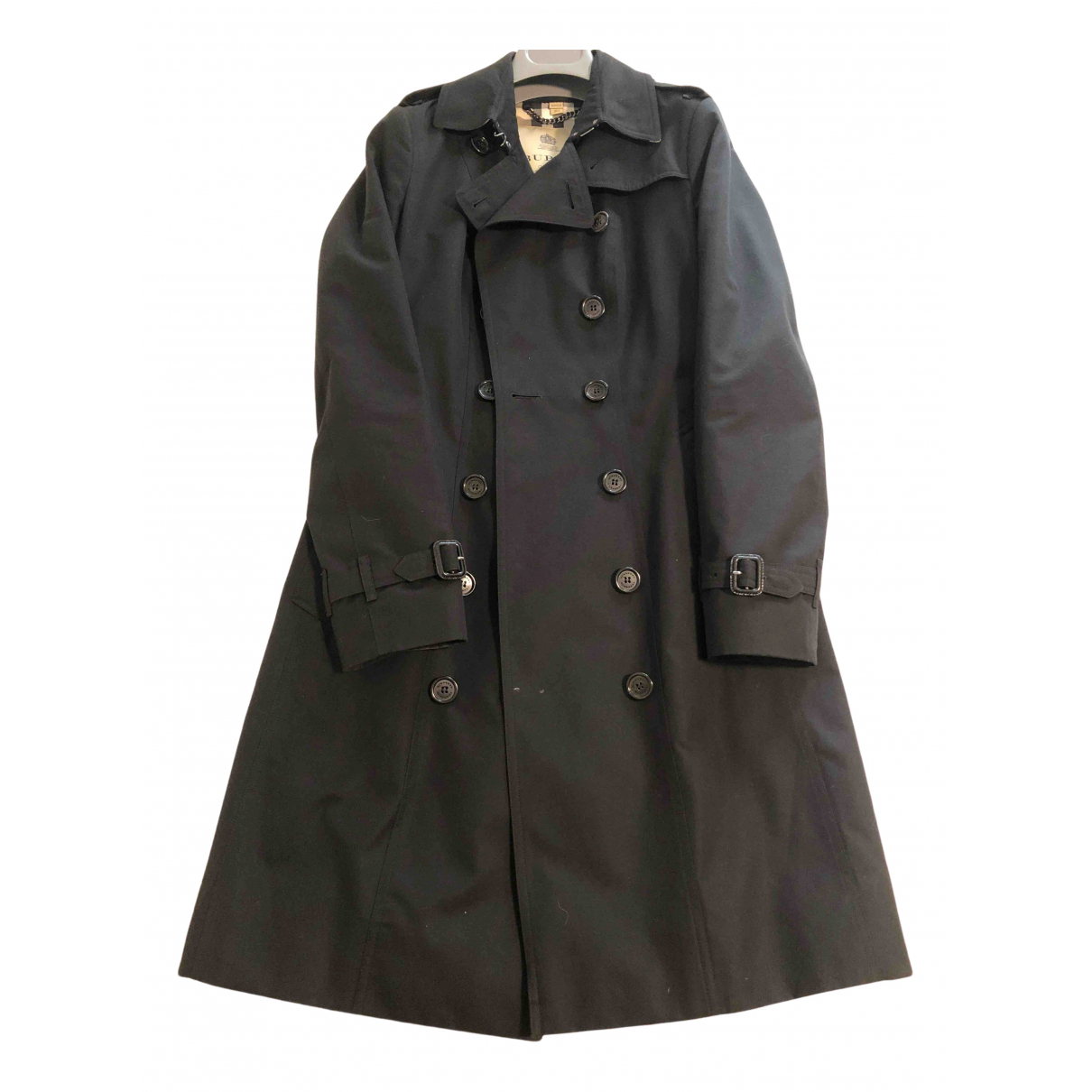 Burberry \N Black Cotton Trench coat for Women 40 IT