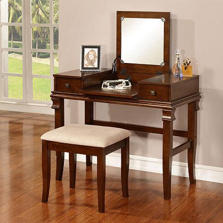 Delmar 2-pc. Vanity Set, One Size , Brown