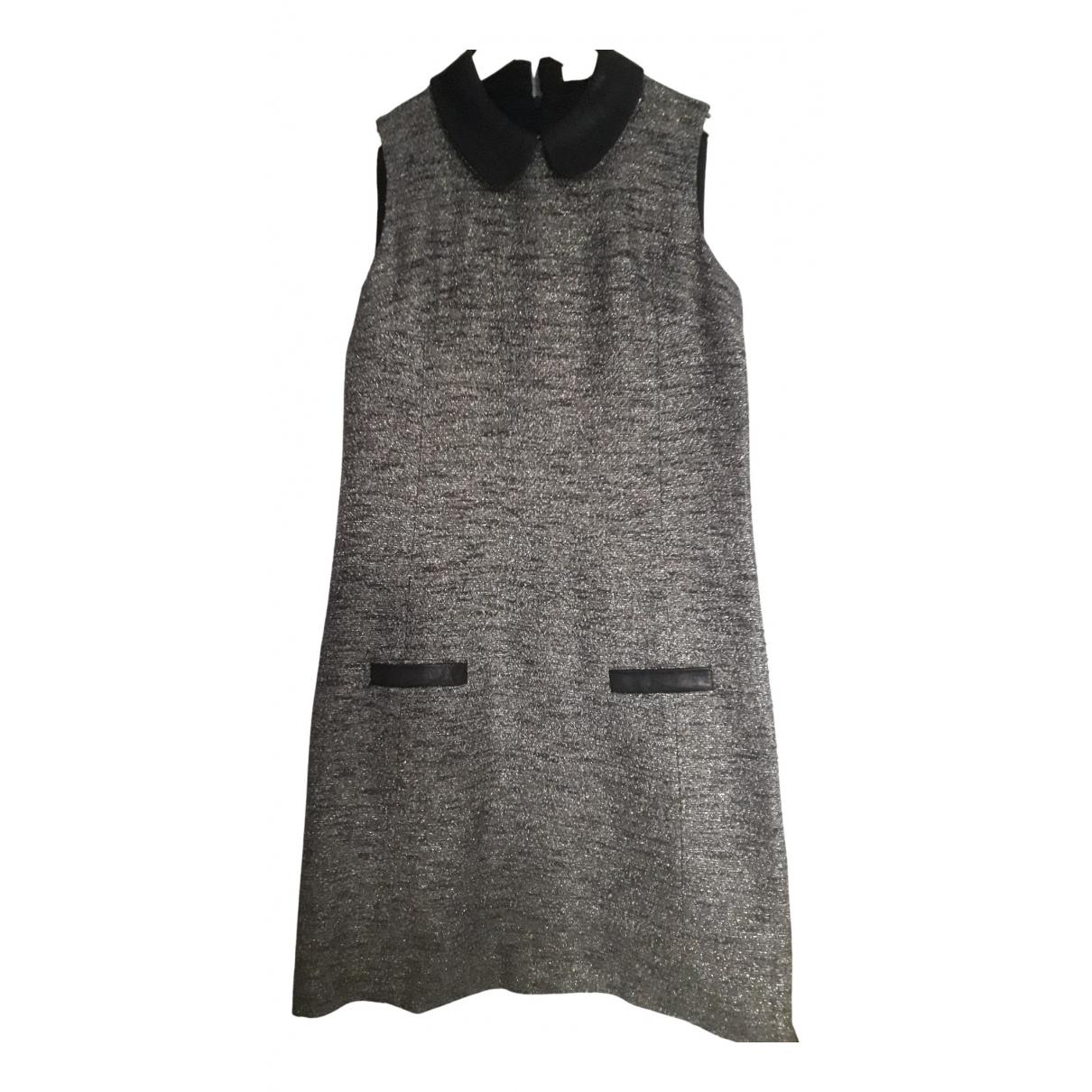 Non Signe / Unsigned \N Kleid in  Grau Leder