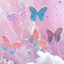 5 Stuecke Zufaelliger Tortenaufsatz in Schmetterlingform