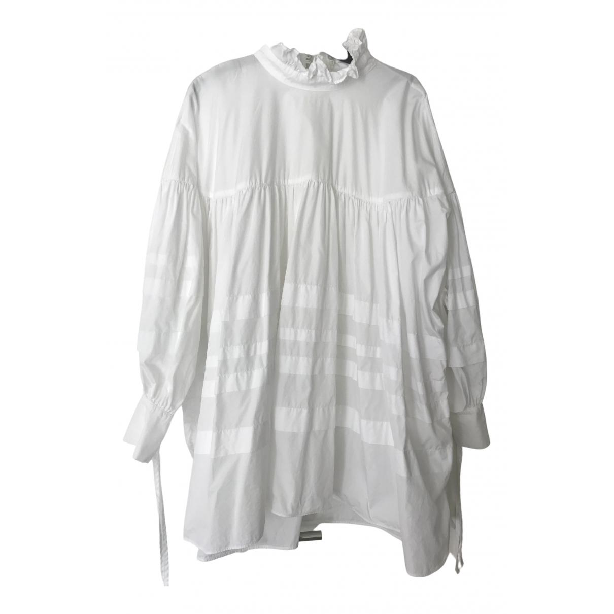 Cecilie Bahnsen - Robe   pour femme en coton - blanc
