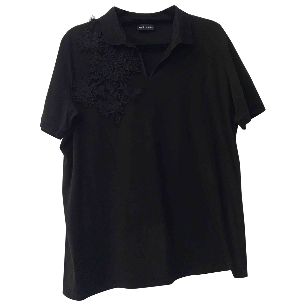 Krizia - Top   pour femme en coton - noir