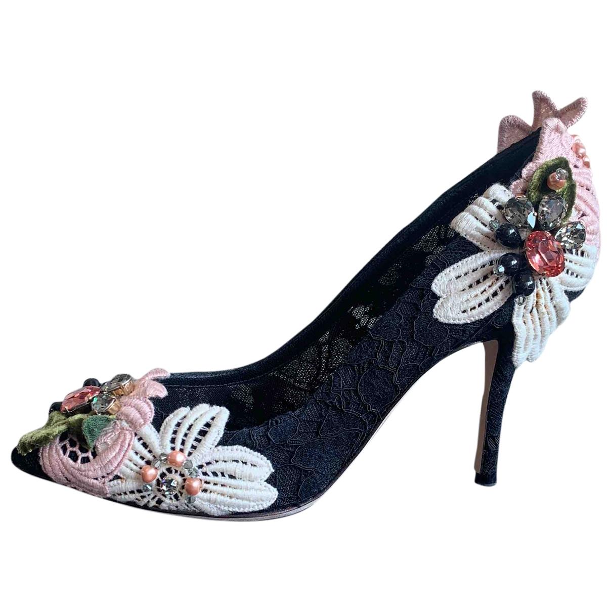 Dolce & Gabbana - Escarpins   pour femme en dentelle - noir