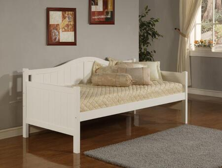 1525DB Staci Daybed with Arched Silhouette  Bead Board Design  MDF and Veneer Construction in White