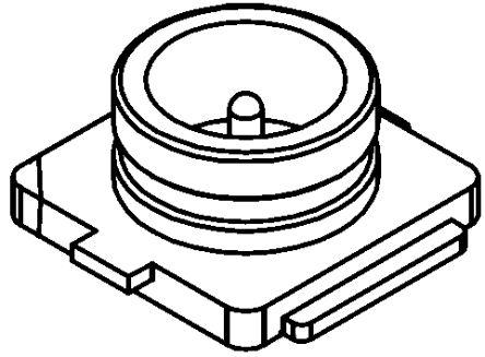 Molex Straight Surface Mount Coaxial Connector, jack, Gold, Solder Termination (5)