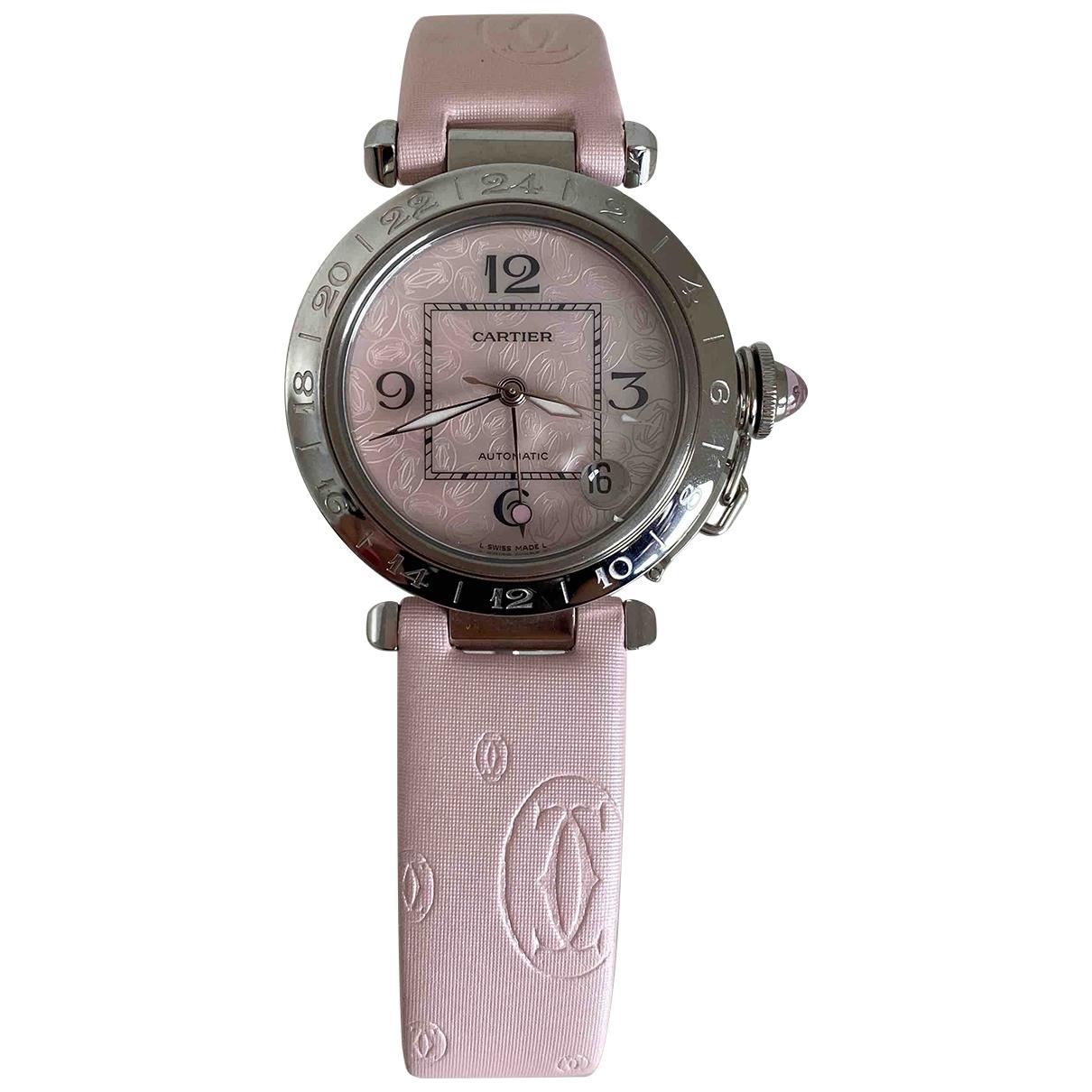 Cartier Pasha Uhr in  Rosa Stahl