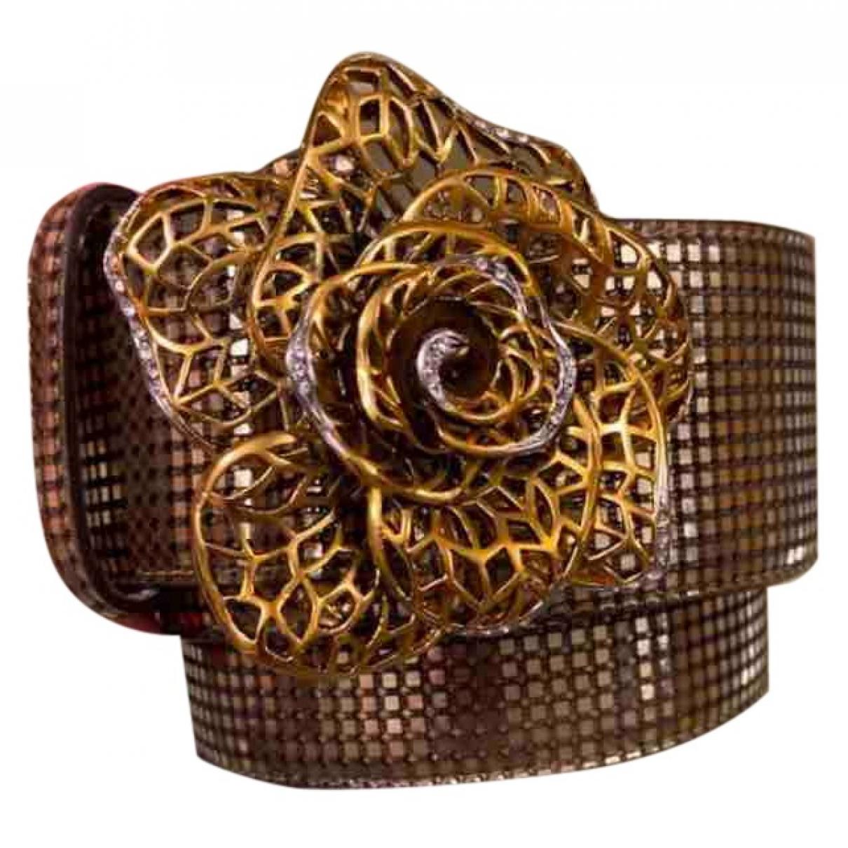 Roberto Cavalli \N Guertel in  Gold Leder