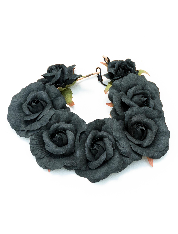Kostuemzubehor Haarband Rosen schwarz