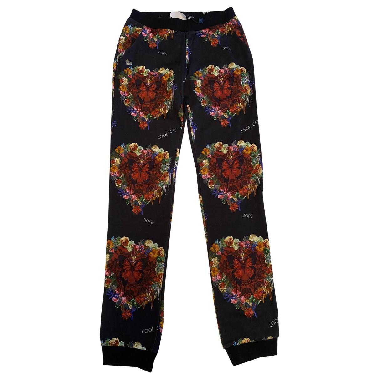 Pantalones en Algodon Negro Philipp Plein