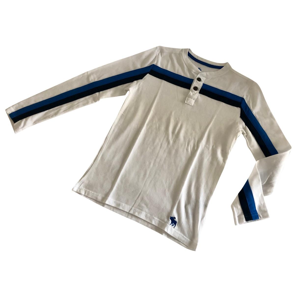 Abercrombie & Fitch - Top   pour enfant en coton - blanc
